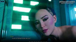 City of Broken Dreamers – Cyberpunk Asian goddess with big beautiful boobs