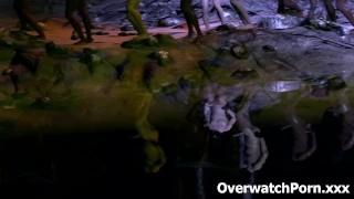 Overwatch D.Va Rough Gangbang Sex